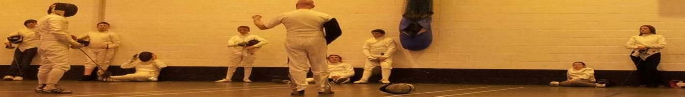 Fencing coaching session